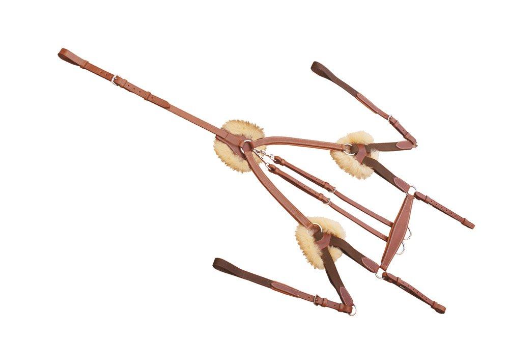 Martingal-Jagd in Leder Italienisch Verstellbare, elastische Einsätze und Polster in Montone.Schnallen Edelstahl.pe00613