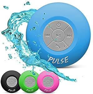 CSJ  Pulse Wireless Waterproof Bluetooth 4.0 Shower Speaker - Blue