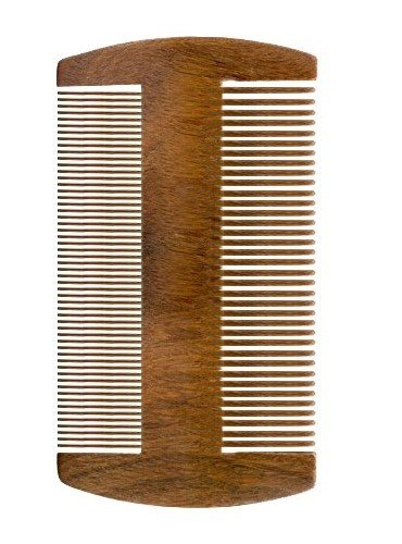 Beard Comb for Men, Sandalwood Pocket Comb for Beard and Mustache, Thick & Thin Teeth Comb by Woods World(Green Sandalwood)