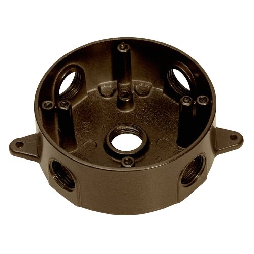 Sigma Electric 143854BR 1/2-Inch 5 Hole Round Box, Bronze