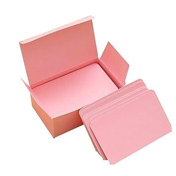 Visitenkarten Kleine Notizblöcke Blanko 100 Stück Amazon