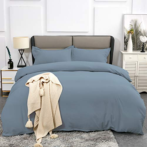 Twin Duvet Covers – Ultra Soft and Breathable Bedding Comforter Cover Set Washed Microfiber 3 Pieces with Zipper Closure…