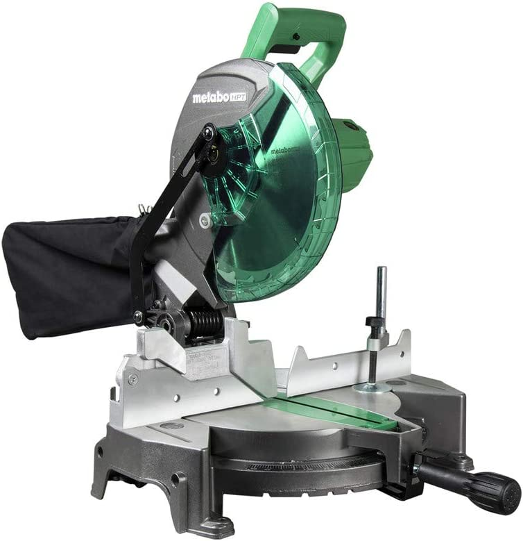 Metabo HPT Compound Miter Saw, 10-Inch, Single Bevel, 15-Amp Motor