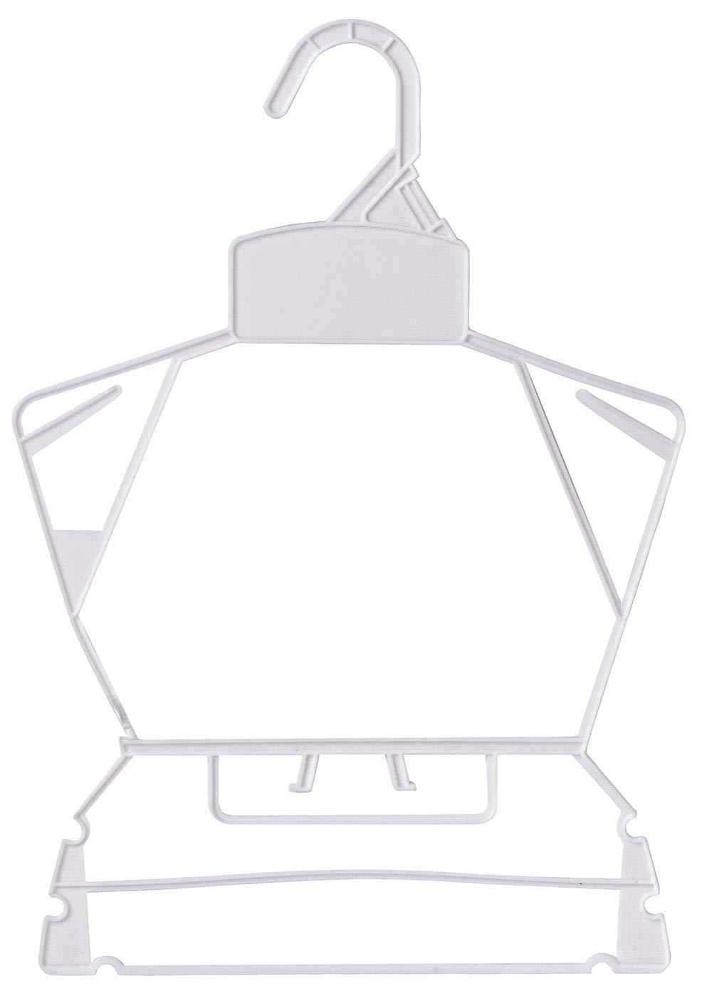 Economy White Children's Plastic Clothing Hanger Set - Case of 250 by SSWBasics