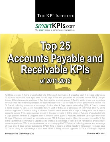 Top 25 Accounts Payable and Receivable KPIs of 2011-2012
