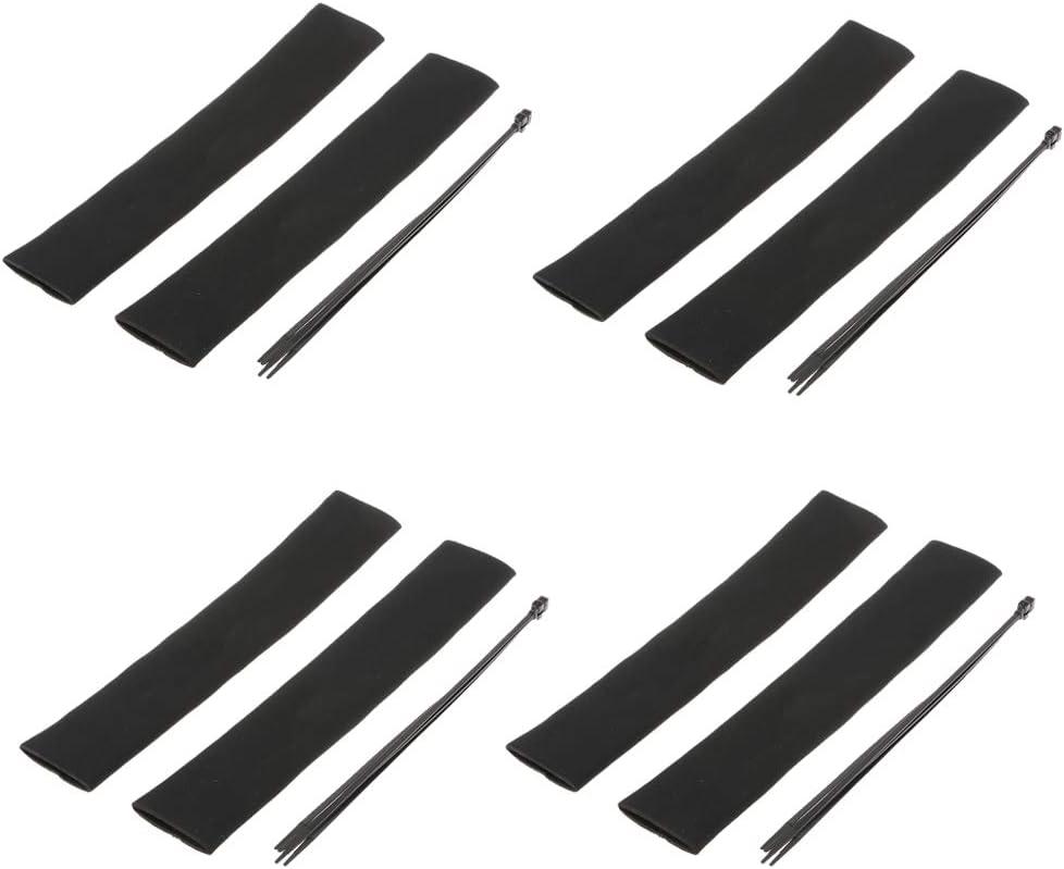 Shiwaki 8 St/ück Neopren Gabel Gamaschen Gabel Stiefel Gabel Dichtung Socken Sparer