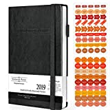 Wordsworth Planner 2019 Daily & Weekly Agenda to Achieve Your Goals & Live Happier - Gratitude Journal & Productivity Organizer (Compact A5 Size) - Bonus eBooks & Stickers
