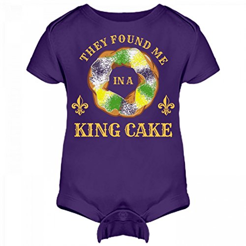 Mardi Gras Baby: Infant Rabbit Skins Lap Shoulder Creeper