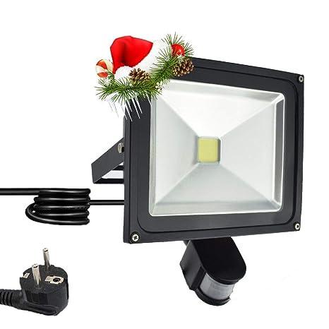 Himanjie – Foco LED con detector de movimiento, foco – Foco de Luz con enchufe