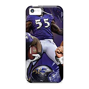 Hot Tpu Cover Case For Iphone/ 5c Case Cover Skin - Baltimore Ravens