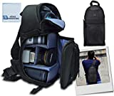 Deluxe Digital Camera/Video Sling Style Shoulder Bag for Canon, Nikon D300, D300S, D3000, D3100, D3200, D3300, D5000, D5100, D5200, D5300 & More & an eCostConnection Microfiber Cloth