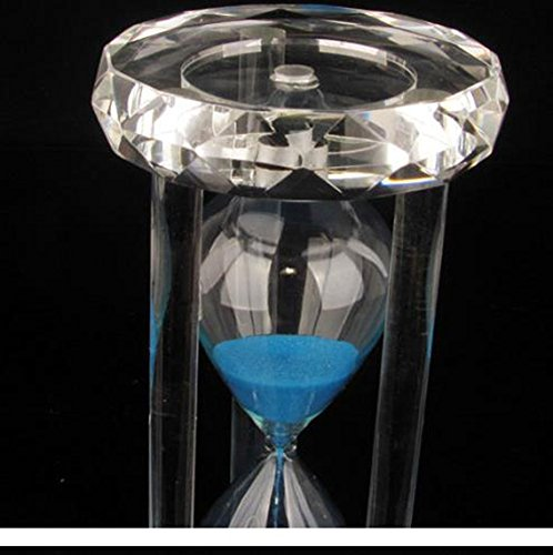 15/30 Minutes Colorful Lovely Hourglass Timer Creative Small Ornaments Home Decorations (blue sand, 30 minutes)
