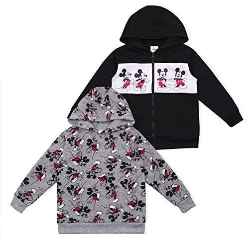 Disney 2-Pack Toddler and Boys Cars and Mickey Mouse Hoodie Apparel, Black- 5 (Disney Jackets)
