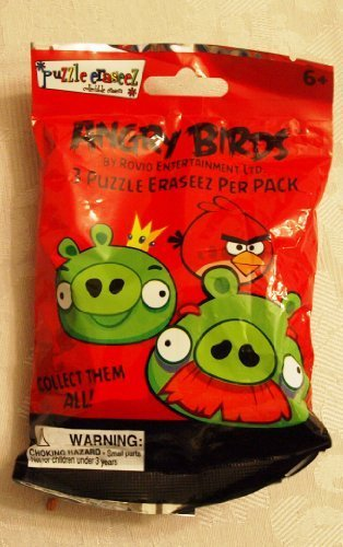 Angry Birds Eraseez Collectible Puzzle Eraser 3 Ct by MZB Imagination