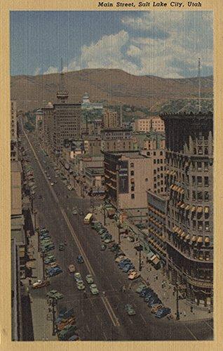 Salt Lake City, Utah - View of Main St. (16x24 Giclee Gallery Print, Wall Decor Travel Poster)