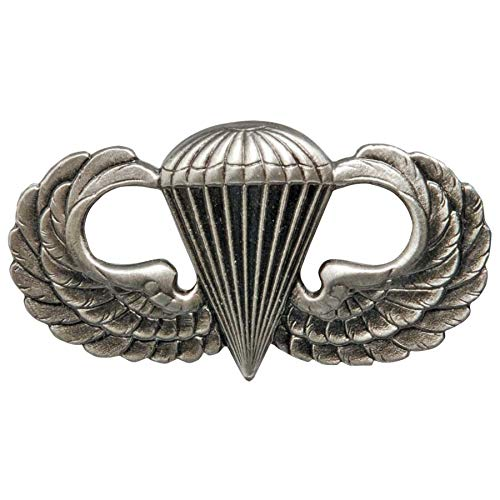 Medals of America Army Parachute Badge Silver Oxide Regulation Size Full Size