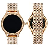 Diamante Watch Band for Fossil Q Venture, 18MM Crystal Rhinestone Diamond Stainless watch band for Q Venture,Rose Gold