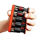 Epitomie Fitness Finger Master: Deluxe Hand Finger Exerciser & Strengthener for Arthritis, Carpal Tunnel, Guitar Playing, Rock Climbing, Sports & Trigger Finger Training - All Five Fingers Adjustable