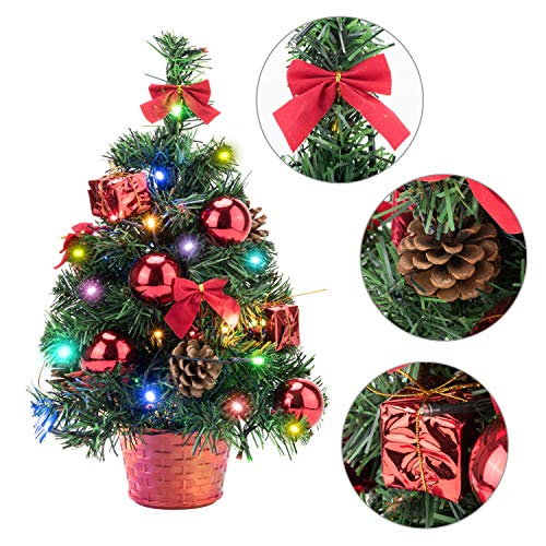 EFORINK Mini Christmas Tree with Lights 18