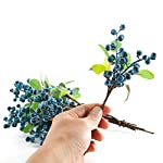 SHACOS-Artificial-Blue-Berry-Stems-Pack-of-20-Fake-Berries-with-Green-Leaves-Berry-Spray-Pick-98-inch-for-Christmas-Decorations-Crafts-Holiday-Home-Decor-20-PCS-Berry-Blue
