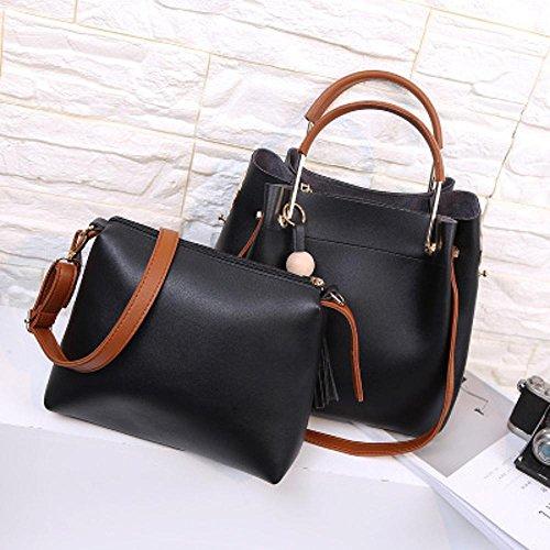 Moda bolso infantil de bolsa Black vueltas Penao hombro señora mensajero 25cmx12cmx28cm tamaño Casual cien pwdRUqR