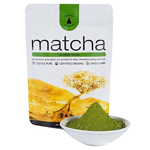 Master Matcha Certified Organic Matcha Green Tea 80 Gram (2.8 Ounce) - Culinary Grade Matcha Green Tea Powder for Lattes, Smoothies, Baking - Vegan, No Gluten, Non-GMO, No Preservatives, Sugarless