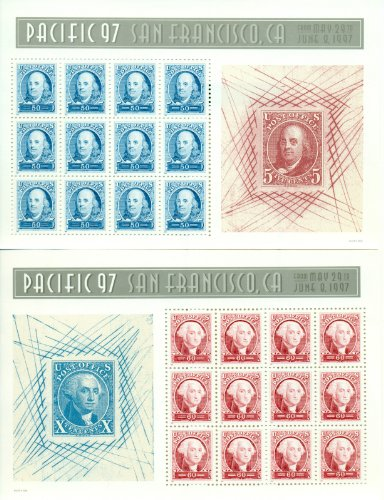 Pacific '97 Mint Sheets of Twelve Stamps Each. Set of Two Scott 3139-40 - 12 Stamp Mint Sheet