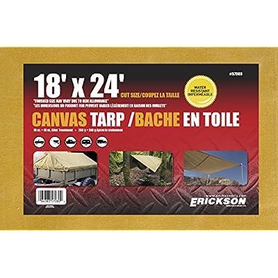 Erickson 57080 Canvas Tarp, 18' x 24',1 Pack: Automotive
