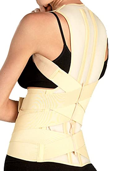 d6b0e01d DELUXE POSTURE CORRECTOR, Lumbar Support Belt, Round Shoulder and Scoliosis  Back Brace with Stiff
