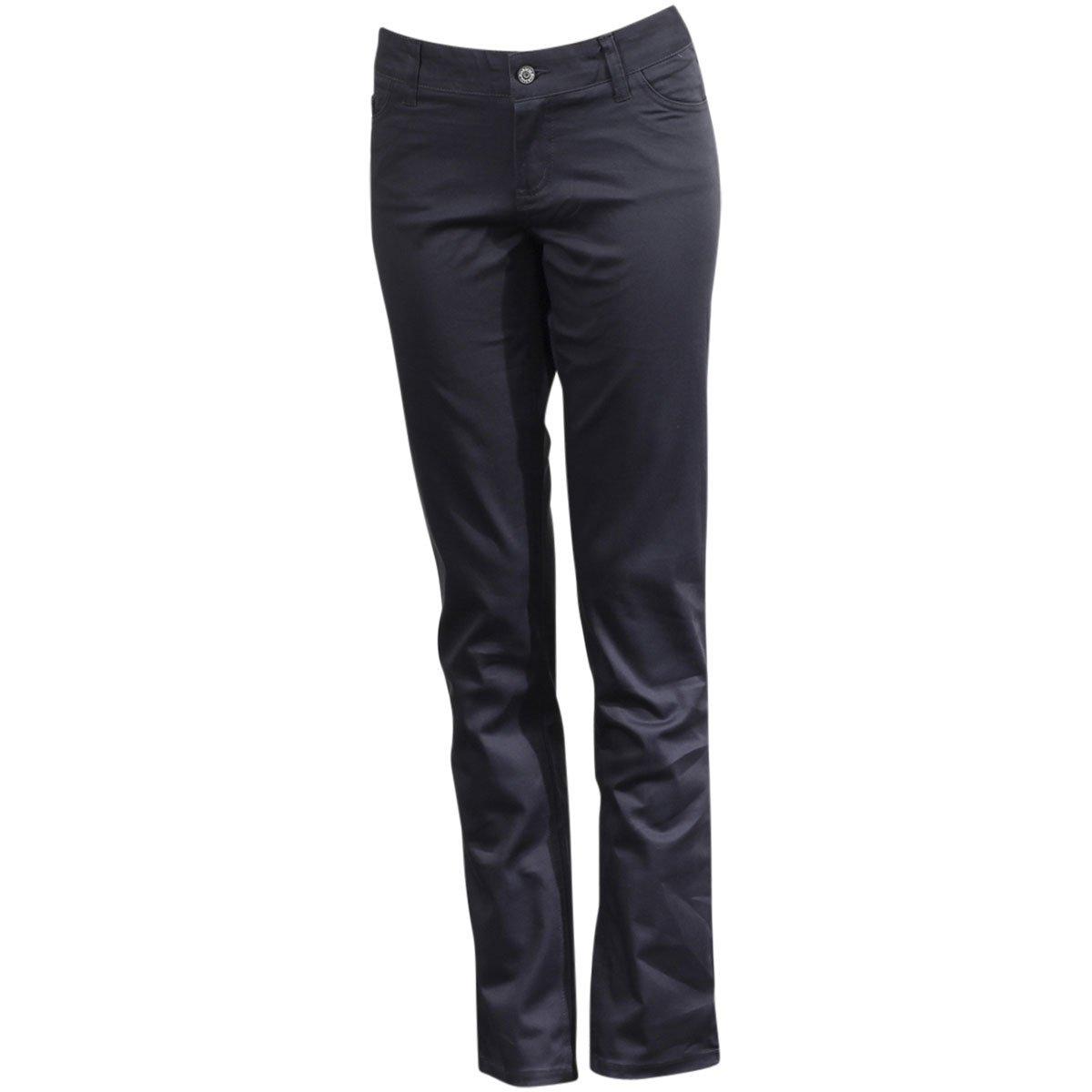 Dickies Girl Junior's Classic 5 Pocket Skinny Pant, Charcoal, 13