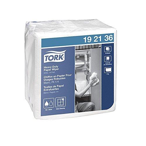 SCA Tork 450 Double Recrepe Wiper, Quarter-Fold , White, 12.5'' x 13.25'' 56 Wipers Per Box, 896 Wipers Per Case