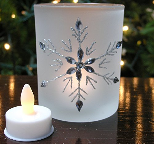 Frosted Glass Snowflake Candle Holders Set of 3 Glittery  : 512BD4c4RxjL from www.desertcart.ae size 500 x 469 jpeg 41kB