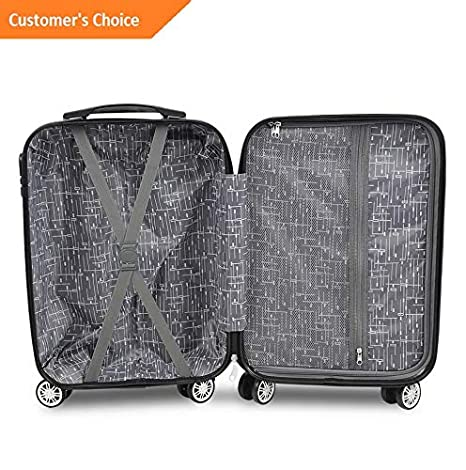 Amazon.com | Sandover 3/4PCS Travel gage Set Bag Trolley ABS Spinner Carry On Business Suitcase | Model LGGG - 12679 | | Luggage Sets