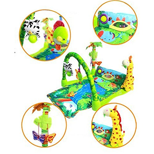 Rainforest Lullaby Baby Playmat Musical Piano Gym Activity
