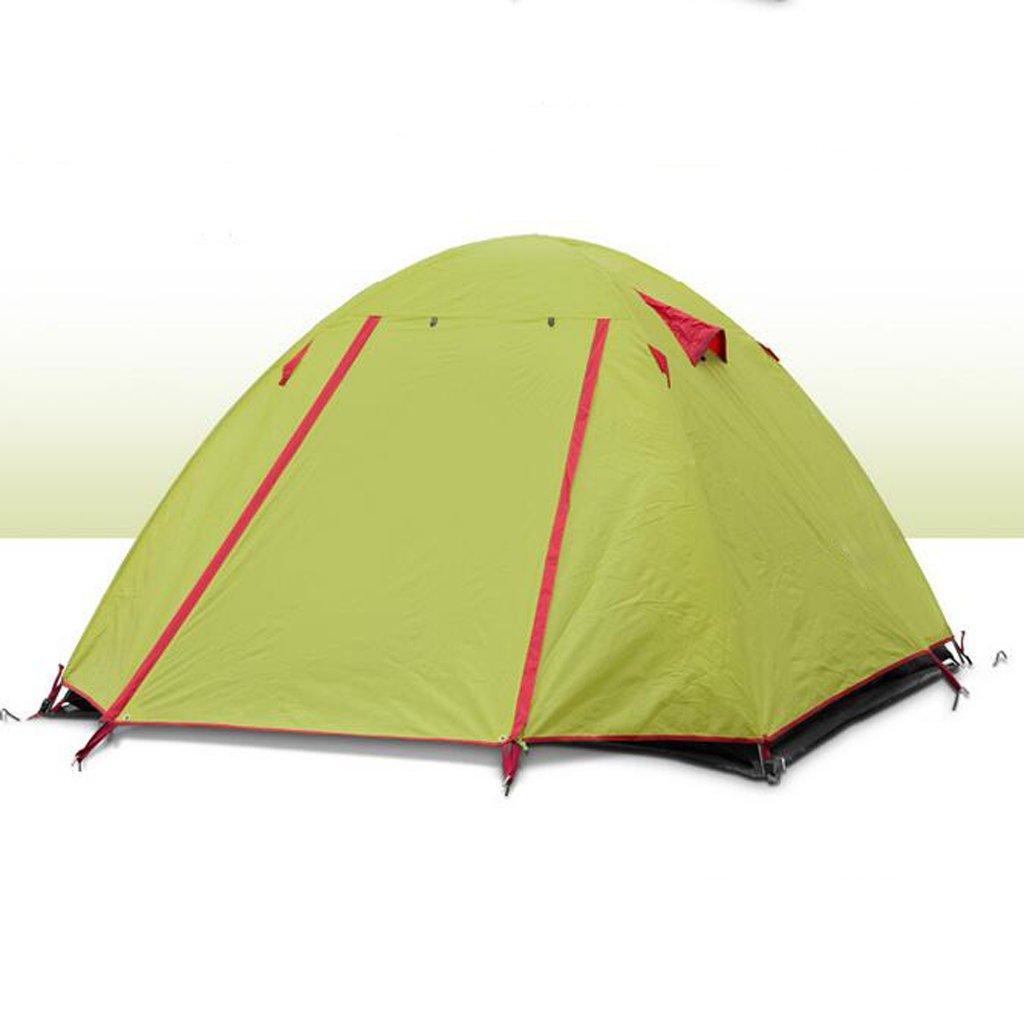 キャンプテント3-4人ダブルテント超軽量アルミポール のテント (色 : Green (色 Green, サイズ Green, さいず : L l) L l Green B07GJFP2FC, OMドラッグ:ff2b699d --- sodern.se