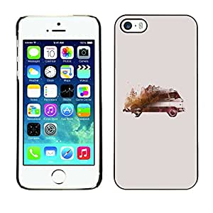 PC/Aluminum Funda Carcasa protectora para Apple Iphone 5 / 5S Painting Drawing Vintage Model / JUSTGO PHONE PROTECTOR
