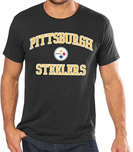 Majestic NFL Pittsburgh Steelers 'Heart and Soul III' Men's T-Shirt