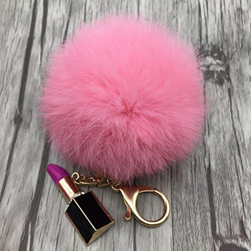 Ecosin Fashion Lipstick Bowknot Keychain
