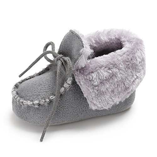 Baby Soft Sole Snow Crib Shoes Toddler Boots Pink - 2