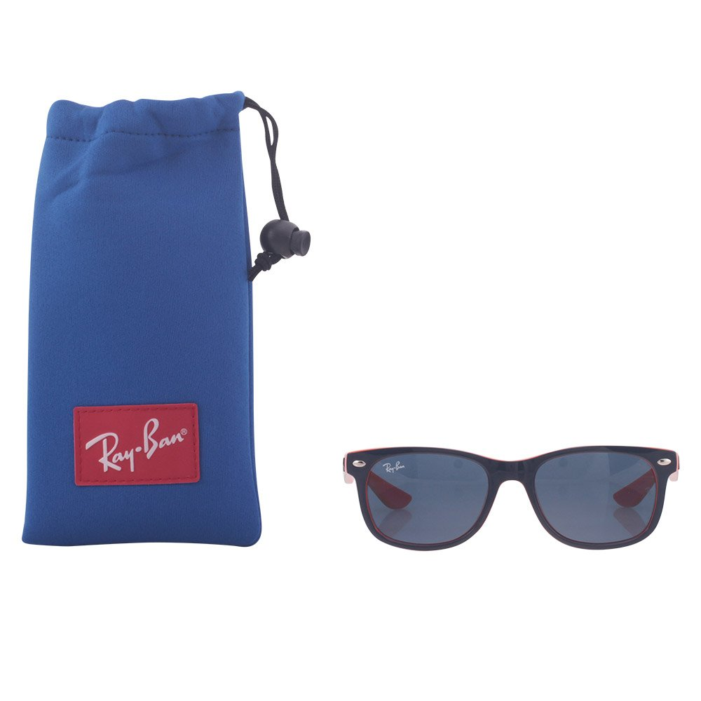 Ray-Ban RJ9052S 178/80 Junior Wayfarer Square Sunglasses, Top Blue on Orange