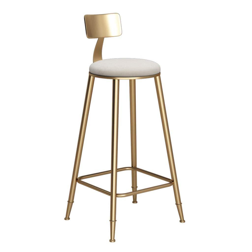 CFJRB 産業スタイルBarStool | ビンテージチェア、金属製の背もたれファブリッククッション、バーキッチン用 (色 : White mat, サイズ さいず : Seat height 60cm) B07MJJCL15 White mat Seat height 60cm