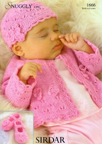 Sirdar Snuggly 4ply Baby Knitting Pattern 1666 By Sirdar Amazon