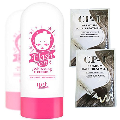 Pencils Flash - YET Flash Skin on Whitening Cream 75g Quick Whitening & Brightening with YET Waterproof Gel Pencil Eye Liner Korea Cosmetic