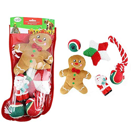 Midlee Toy Filled Christmas Dog Stocking Gift ()