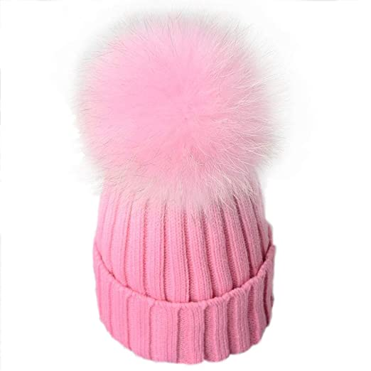 Image Unavailable. Image not available for. Color  USANDY Womens Pom Pom  Beanie ... e8d3ba8574