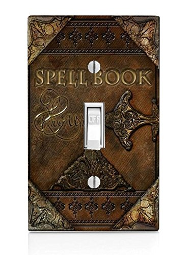 Trendy Accessories Magic Spell Book Design Pattern Print Light Switch Plate (NOT A Decal) Actual Printed Outlet Cover