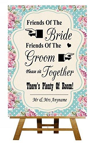 Shabby amigos de la novia, amigos del novio boda Seating ...