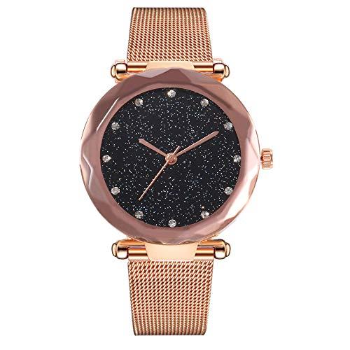 100m Watch Titanium Alarm Chronograph - FarJing New Women Watches Elegant Clock Fashion Brand Roman Dial Retro Quartz Wristwatches (C)
