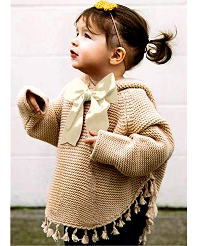 4929a75e251b79 ReachMe Baby Girl Hooded Pullover Sweater Knitted Cardigan Coat Winter  Outerwear(Khaki