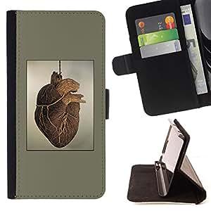 Stuss Case / Funda Carcasa PU de Cuero - Pintura del Corazón Anatomía Arte Dibujo Humano - MOTOROLA MOTO X PLAY XT1562